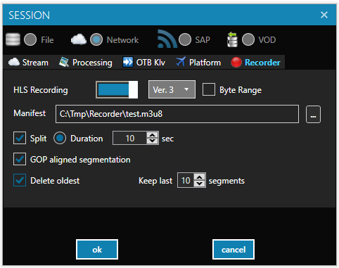 STANAG Player: Stream Recorder
